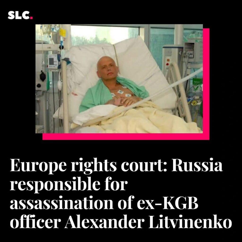 Europe rights court: Russia responsible for assassination of ex-KGB officer Alexander Litvinenko